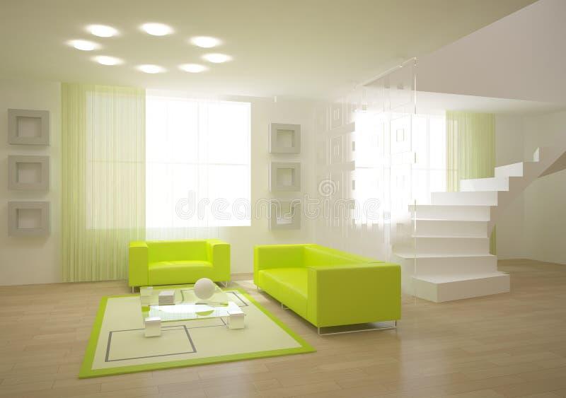 Sitio moderno verde stock de ilustración