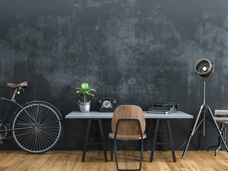 Sitio negro adornado en estilo del vintage libre illustration
