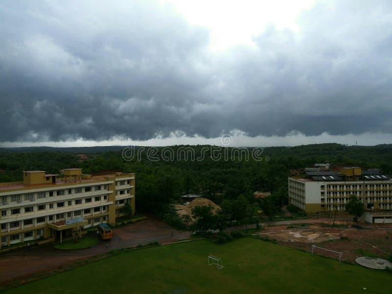 Sitio nublado imagen de archivo