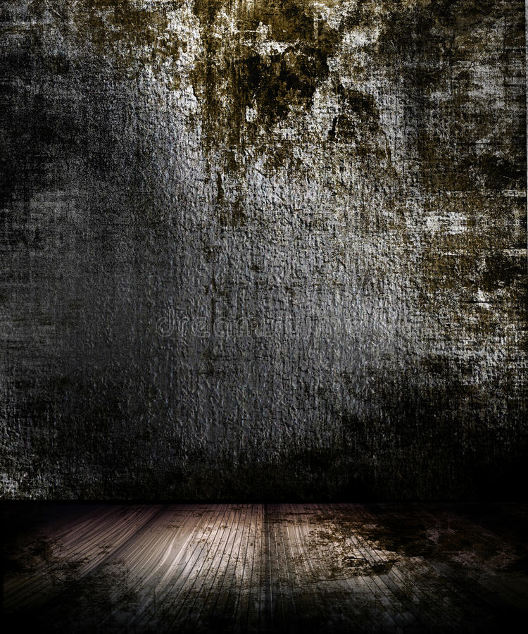 Sitio oscuro de Grunge stock de ilustración