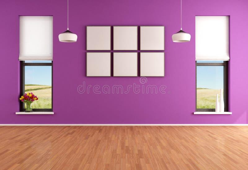 Sitio púrpura moderno vacío ilustración del vector