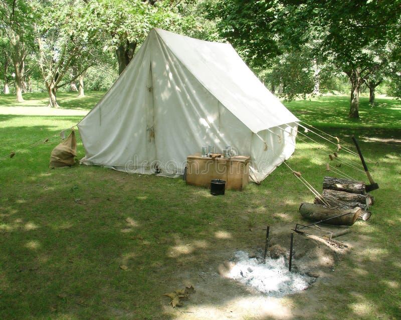 Sitio para acampar fotos de archivo libres de regalías