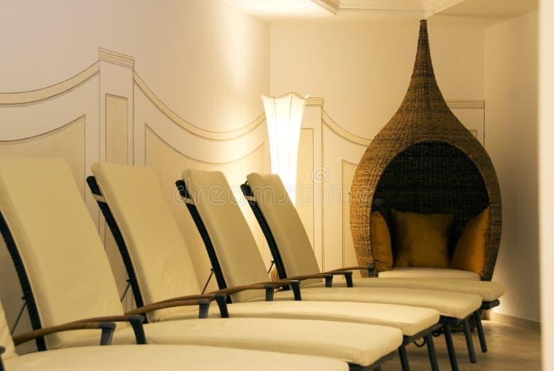 Sitio para la relajación en un balneario fotografía de archivo