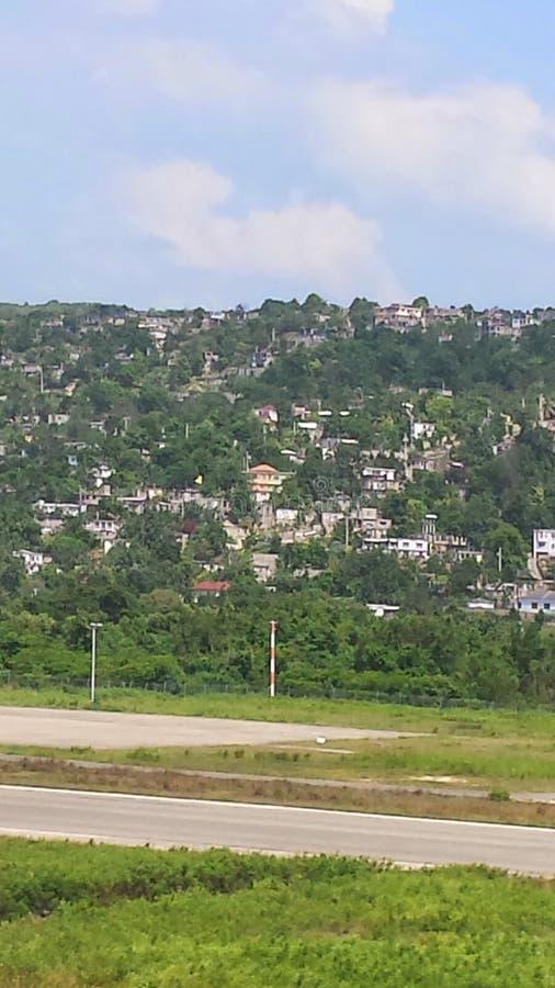 Sitio que ve Montego Bay Jamaica 2014 fotografía de archivo libre de regalías