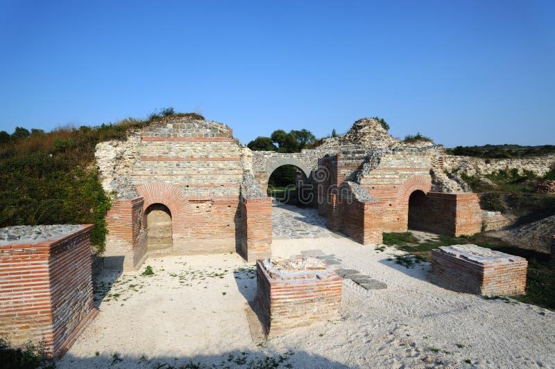 Sitio romano antiguo Felix Romuliana imagenes de archivo