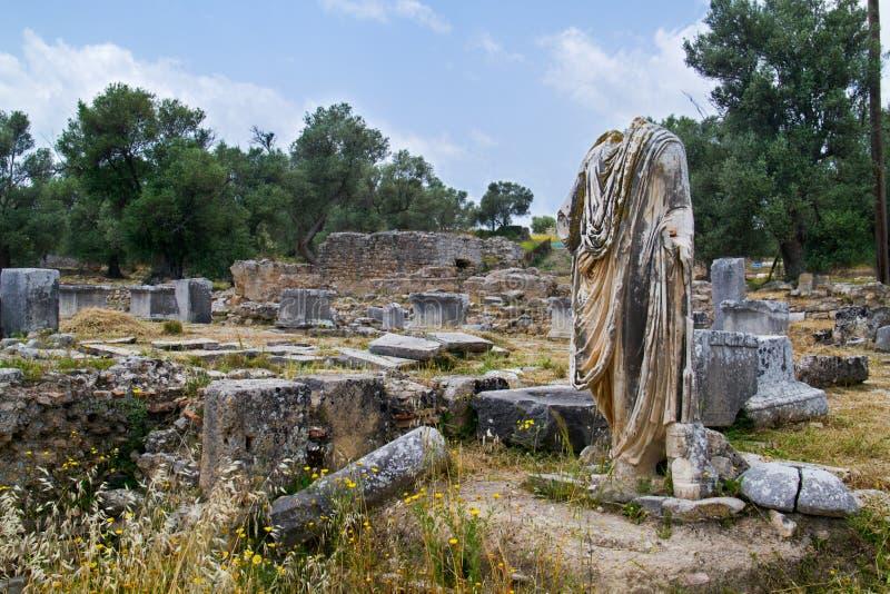 Sitio romano arqueológico imagen de archivo libre de regalías