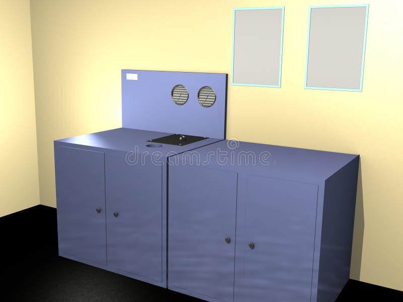 sitio técnico 3d stock de ilustración