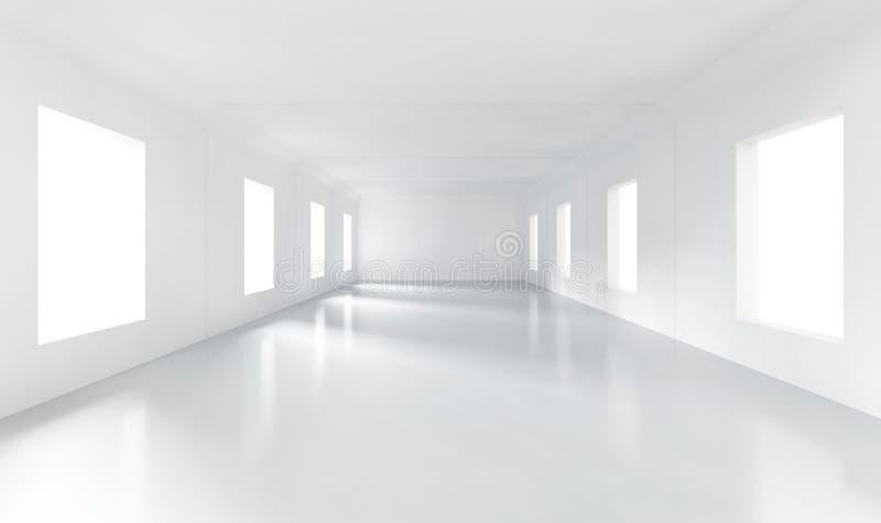 Sitio vacío blanco stock de ilustración