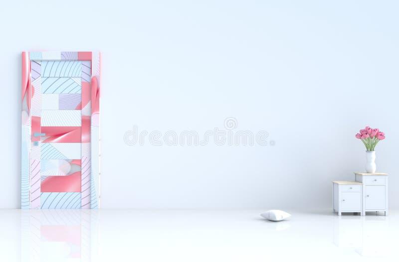 Sitio vacío blanco del día y del Año Nuevo de los inValentine del amor 3d rinden libre illustration