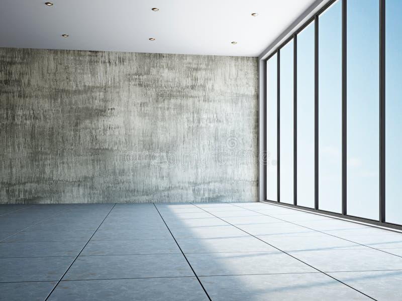 Sitio vacío con la ventana libre illustration