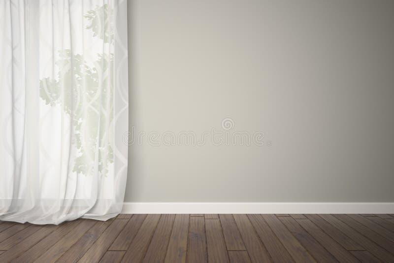 Sitio vacío con las cortinas ilustración del vector