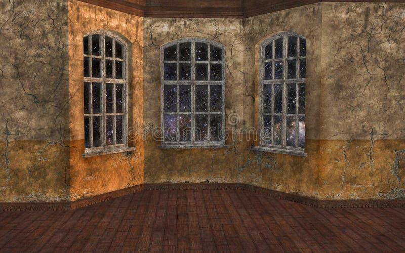 Sitio vacío con las ventanas ilustración del vector