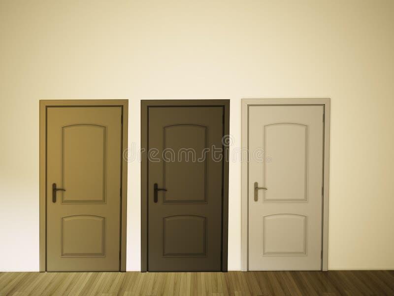 Sitio vacío de la pared y de la puerta libre illustration