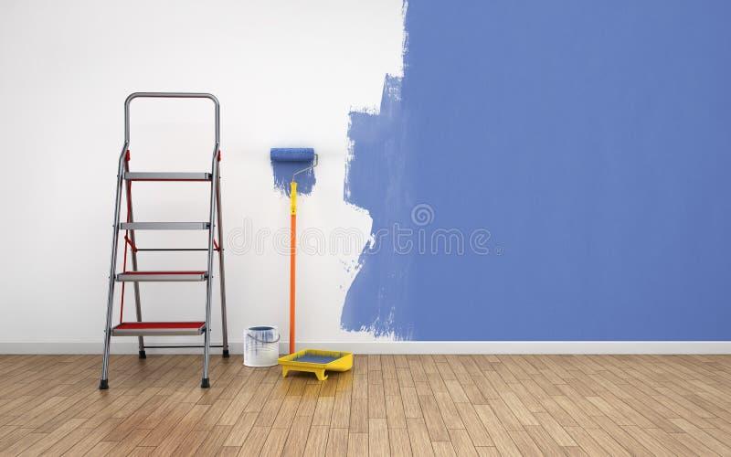 Sitio vacío de pintura stock de ilustración