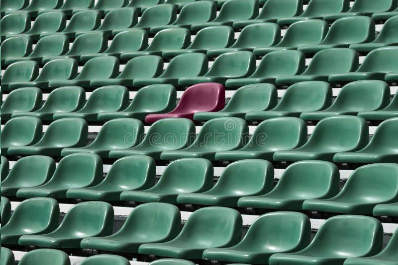 Sitio vacío del estadio de fútbol foto de archivo