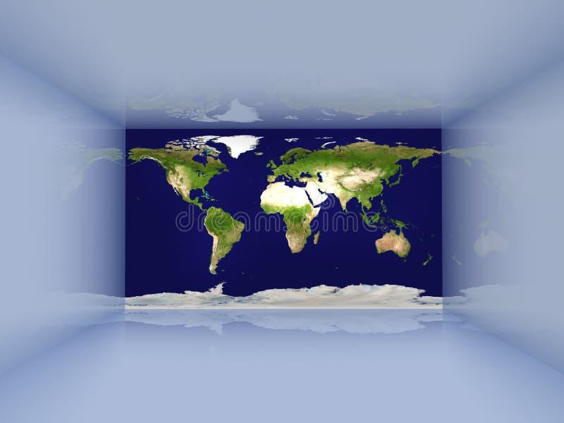 Sitio virtual ilustración del vector