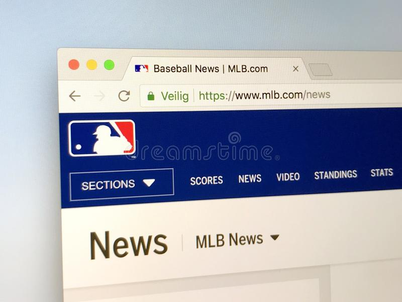 Sitio web de Major League Baseball - MLB fotografía de archivo
