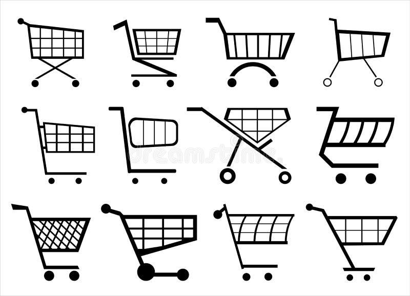 Sitio web del carro de la compra del pictograma de Vectorgrafik stock de ilustración