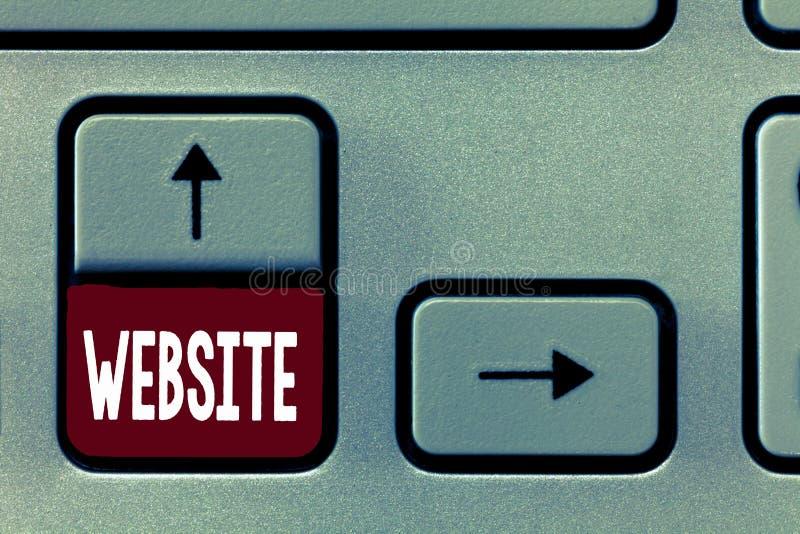 Sitio web del texto de la escritura de la palabra Concepto del negocio para las páginas web relacionadas situadas bajo solo Inter foto de archivo libre de regalías