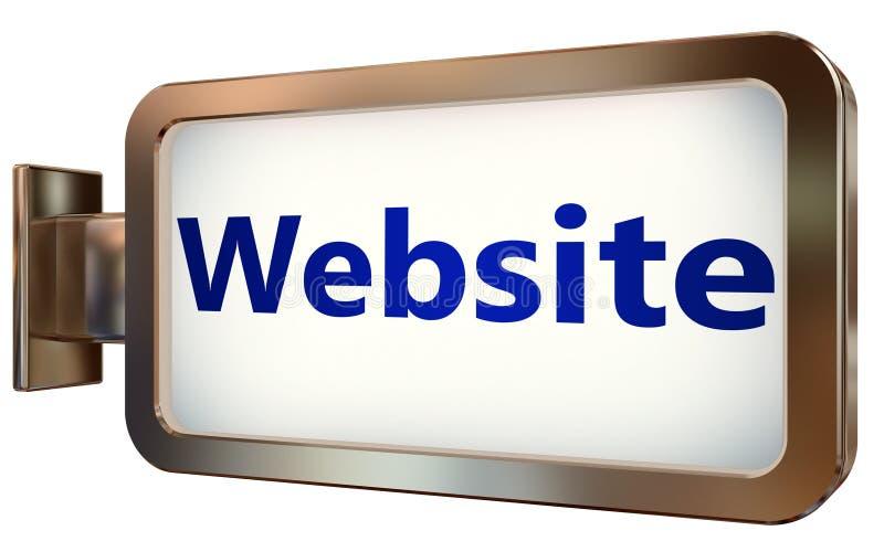 Sitio web en fondo de la cartelera ilustración del vector
