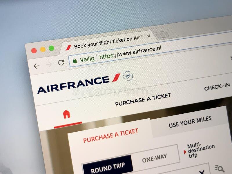 Sitio web oficial de Air France COM - Air France fotos de archivo libres de regalías