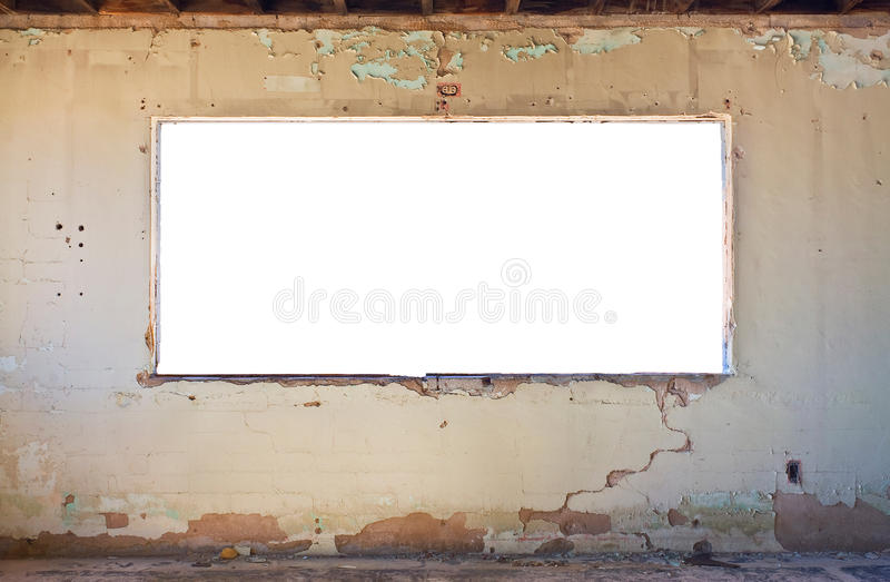Sitio y ventana de Grunge foto de archivo libre de regalías