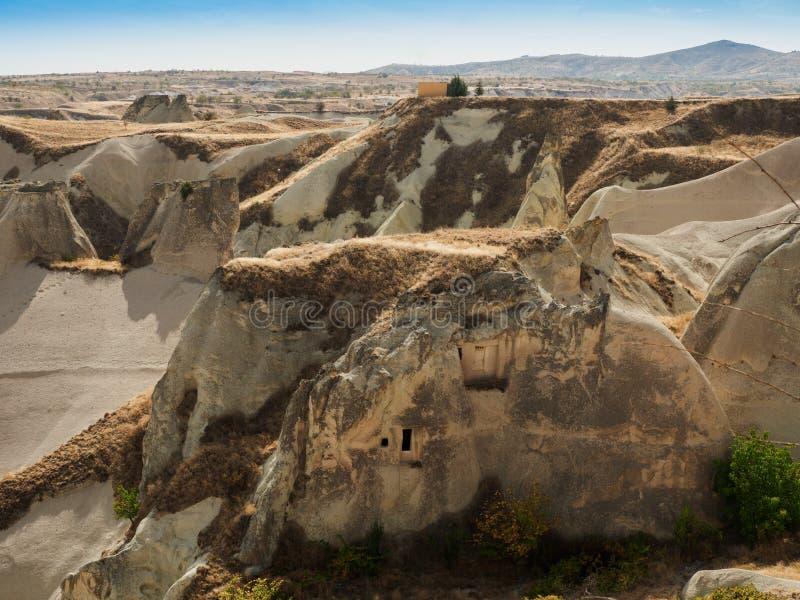 Sitios de la roca en Goreme, Cappadocia, provincia de Nevsehir, Anatolia Region central de Turqu?a fotografía de archivo