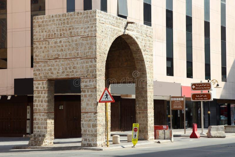 SITO Al Fordha Gate JEDDA Arabia Saudita del PATRIMONIO MONDIALE dell'Unesco fotografia stock libera da diritti