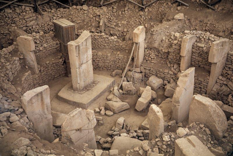 Sito antico di Göbekli Tepe in Turchia del sud immagine stock libera da diritti