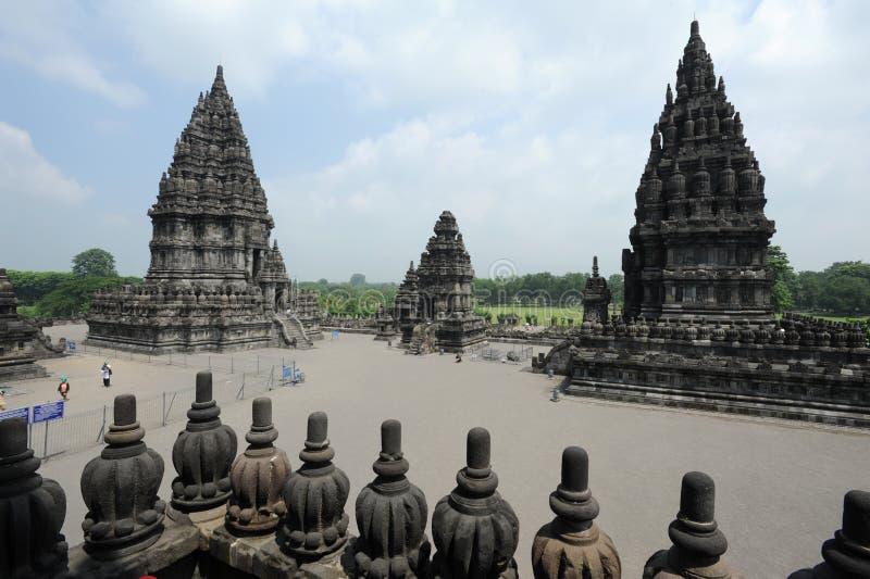 Sito archeologico di Prambanan sull'isola di Java fotografie stock libere da diritti