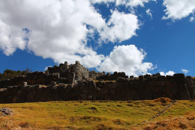 Sito archeologico di Saqsaywaman immagine stock libera da diritti