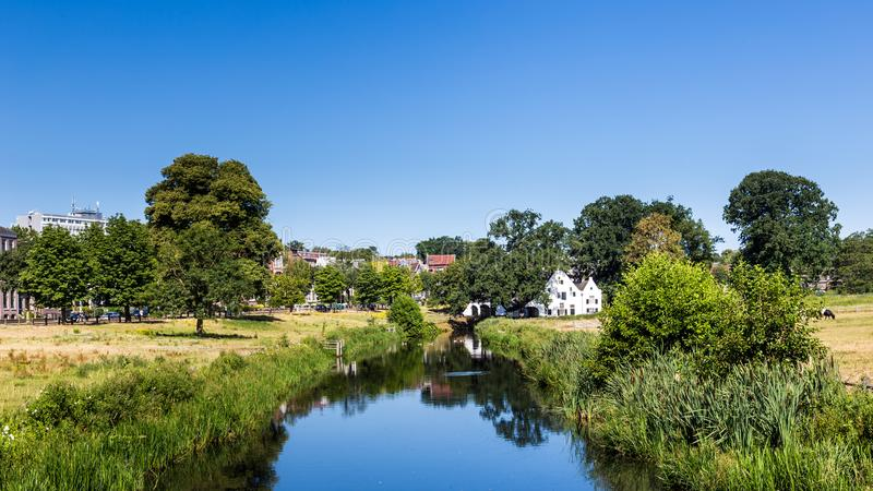 Sito del mulino a Arnhem nei Paesi Bassi fotografia stock libera da diritti