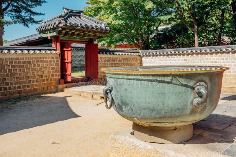 Sito del patrimonio mondiale dell'Unesco del santuario di Jongmyo in Corea immagine stock