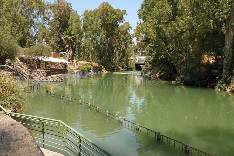 Sito di battesimo di Yardenit su Jordan River in Israele fotografia stock