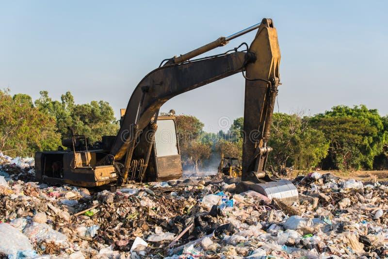 Sito di materiale di riporto, rifiuto tossico fotografie stock