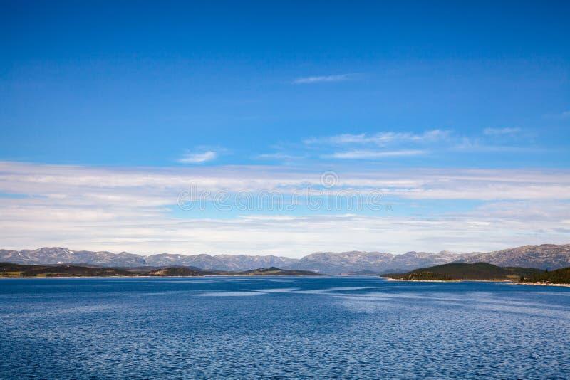 Sito di regolamento Telemar di eredità dell'Unesco del bacino idrico di Mosvatn del lago fotografie stock
