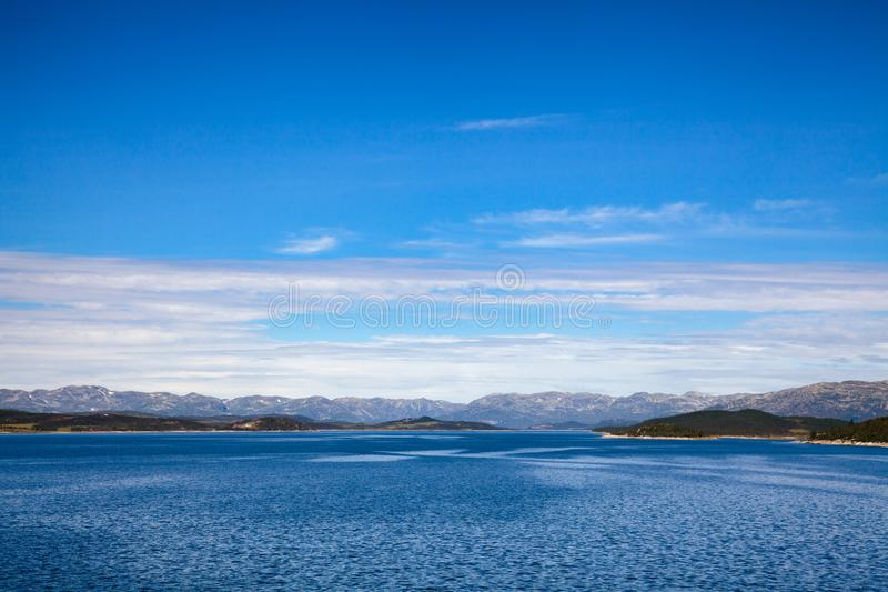 Sito di regolamento Telemar di eredità dell'Unesco di reservior di Mosvatn del lago immagini stock libere da diritti