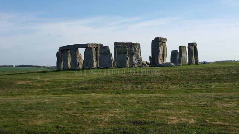 Sito di Stonehenge a piena vista fotografia stock libera da diritti