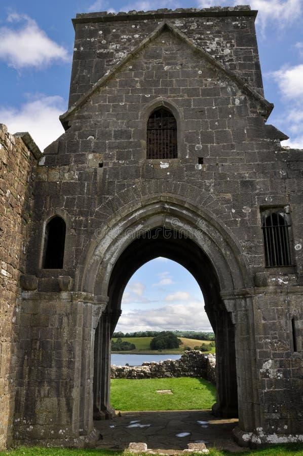 Sito monastico dell'isola di Devenish, Irlanda del Nord fotografia stock