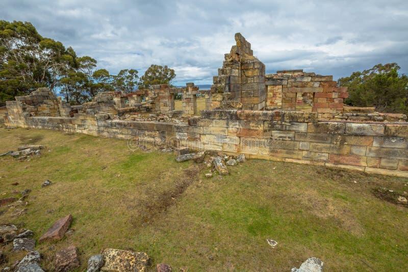 Sito storico delle miniere di carbone: Cellule Tasmania del condannato immagine stock