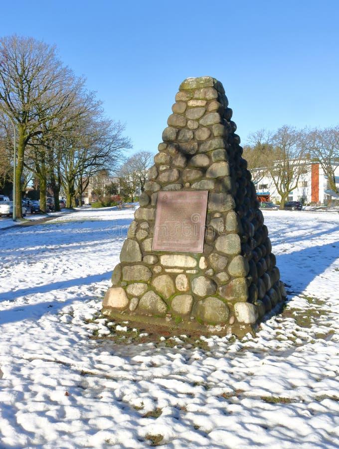 Sito storico di Marpole Midden fotografie stock