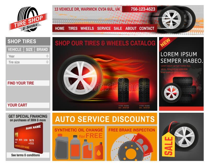 Sito Web del negozio della gomma royalty illustrazione gratis