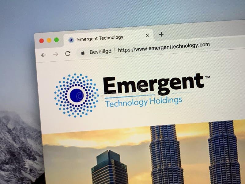 Sito Web di emergente immagine stock libera da diritti