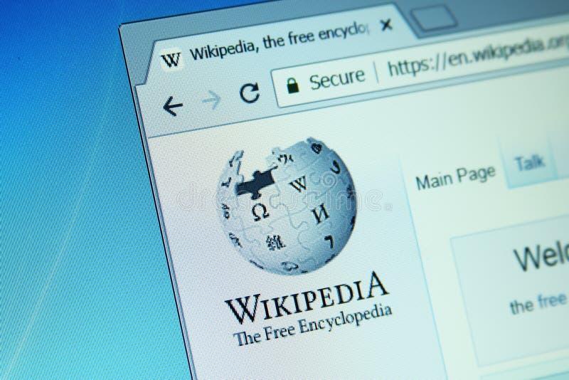 Sito Web di Wikipedia fotografia stock