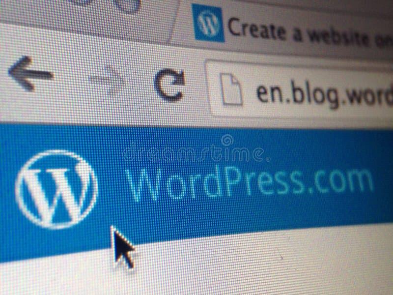 Sito Web di Wordpress fotografia stock