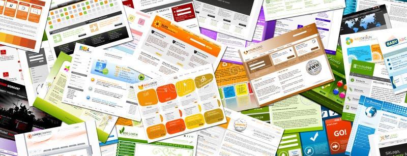Sito Web - panorama variopinto dei modelli di Webdesign - insegna royalty illustrazione gratis