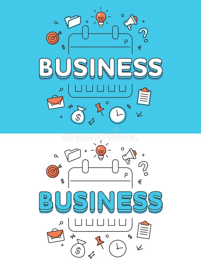 Sito Web piano lineare di programma del calendario del business plan illustrazione di stock