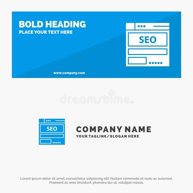 Sito Web, server, dati, ospitare, Seo, insegna solida del sito Web dell'icona di tecnologia ed affare Logo Template illustrazione vettoriale
