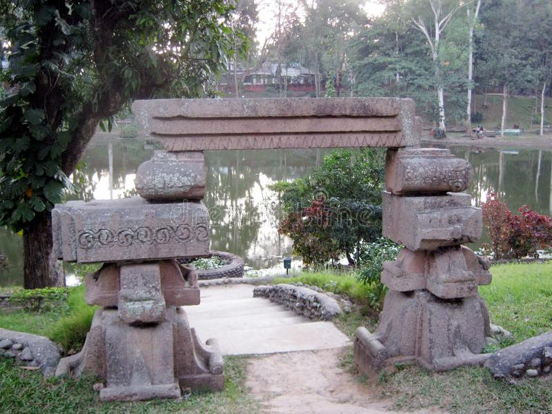 Sitralekha parkerar, Tezpur, Assam royaltyfri foto