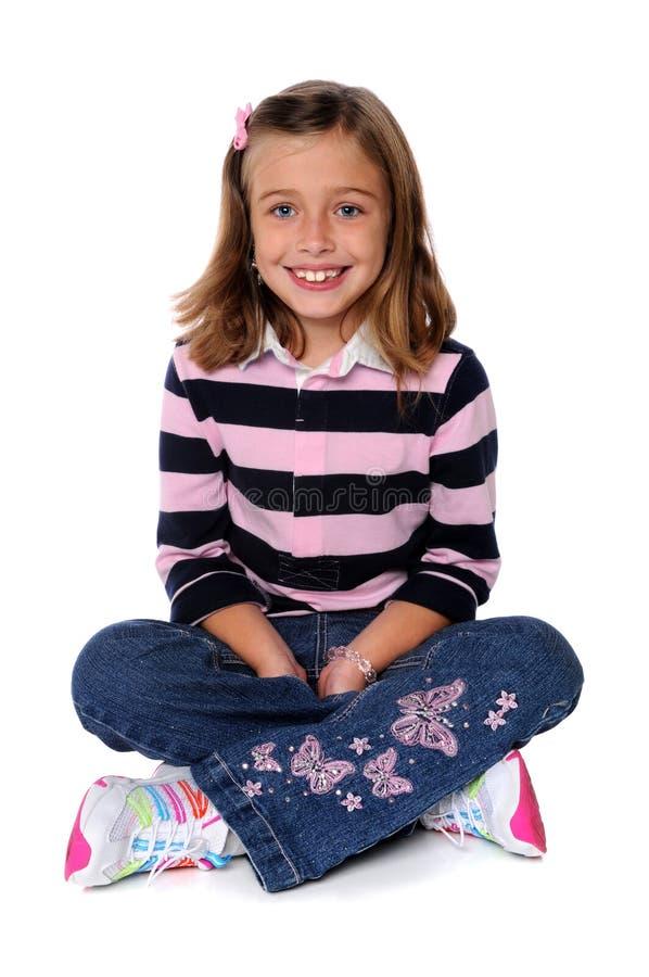 sittande barn för flicka royaltyfria foton
